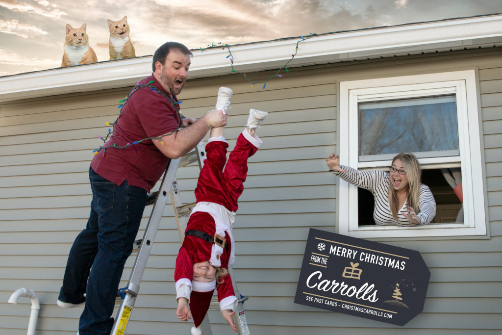 Chris Holds Will Dressed As Santa